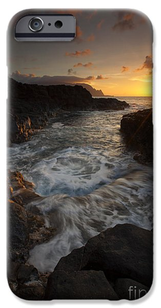 Sunset Pool iPhone Case by Mike  Dawson