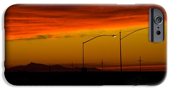 Night Lamp iPhone Cases - Sunset iPhone Case by Richard and Ellen Thane