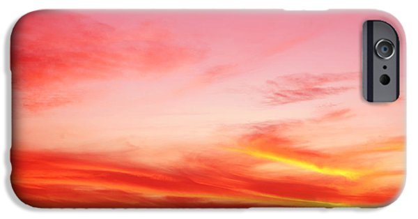 Morning iPhone Cases - Sunset sky iPhone Case by Les Cunliffe