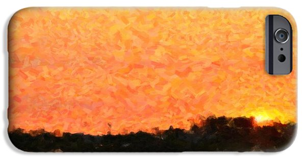 Nature Abstracts iPhone Cases - Sunset iPhone Case by Toppart Sweden