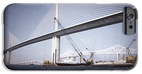 Bay Bridge Mixed Media iPhone Cases - Sunshine Skyway Bridge II iPhone Case by Richard Rizzo
