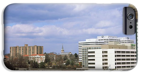 Tennessee Landmark iPhone Cases - Sunsphere In Worlds Fair Park iPhone Case by Panoramic Images