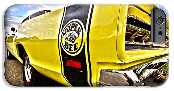 Super Bee iPhone Cases - Super Close Super Bee  iPhone Case by Gordon Dean II