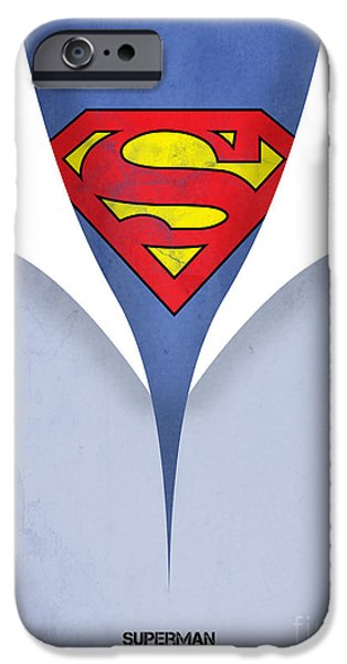 Animation iPhone Cases - Superman 9 iPhone Case by Mark Ashkenazi