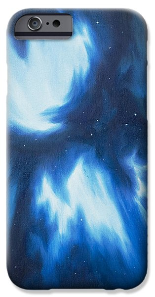 Black Hole Paintings iPhone Cases - Supernova Explosion iPhone Case by James Christopher Hill