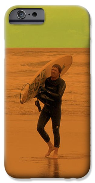 Graphic Design iPhone Cases - Surfing Oregon iPhone Case by Gary Grayson