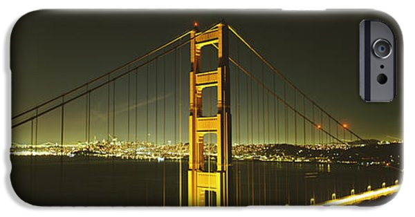 Connection iPhone Cases - Suspension Bridge Across The Sea iPhone Case by Panoramic Images