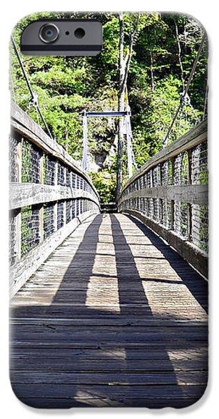 Suspension Bridge iPhone Case by Susan Leggett