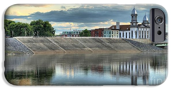 Historic Site iPhone Cases - Susquehanna River Reflections iPhone Case by Adam Jewell