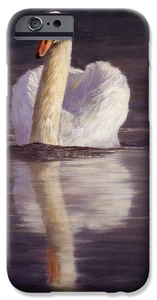 Recently Sold -  - David iPhone Cases - Swan iPhone Case by David Stribbling