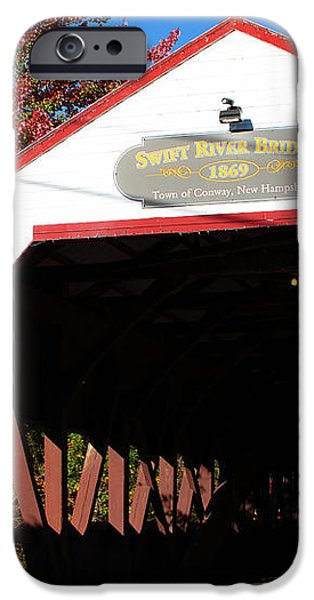 Swift River Covered Bridge iPhone Case by Jeff Folger