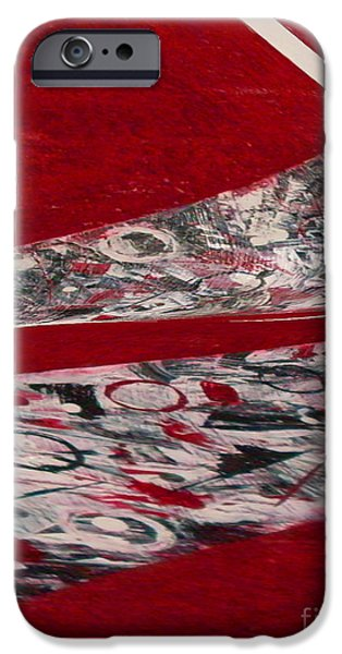 Red Abstract Ceramics iPhone Cases - Swirl iPhone Case by Gabriele Mueller