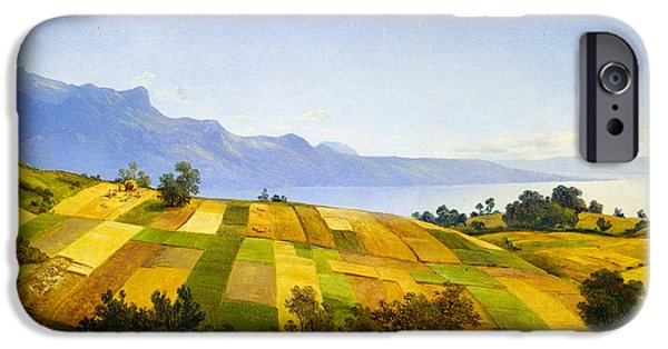 Field. Cloud iPhone Cases - Swiss Landscape iPhone Case by Alexandre Calame