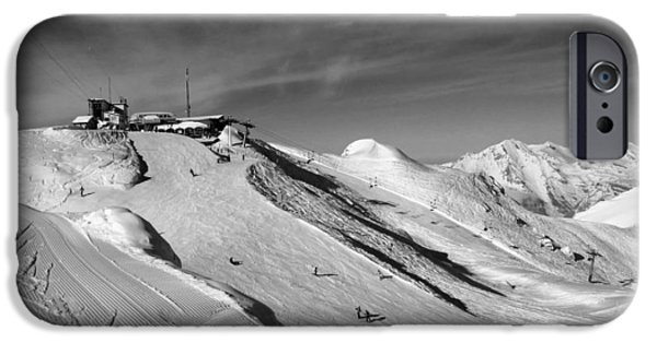 Swiss Landscape iPhone Cases - Swiss Ski Slope iPhone Case by Mountain Dreams