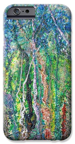 Forest Reliefs iPhone Cases - Sylvan Fantasy iPhone Case by Regina Valluzzi