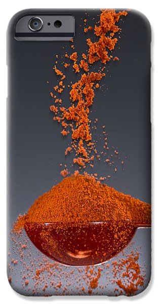 Spoon iPhone Cases - 1 Tablespoon Paprika iPhone Case by Steve Gadomski