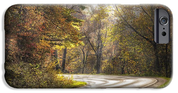 Smokey Mountain Drive iPhone Cases - Take the Back Roads iPhone Case by Debra and Dave Vanderlaan