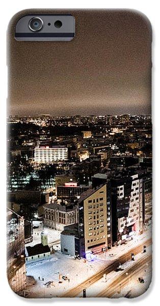 Tallinn at night iPhone Case by Raimond Klavins