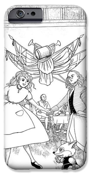 Tammy in Independence Hall iPhone Case by Reynold Jay