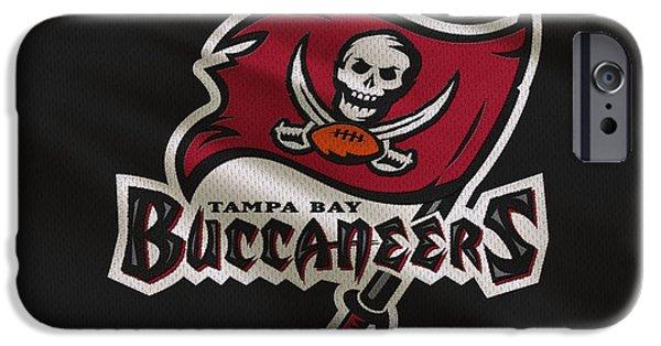 Buccaneer iPhone Cases - Tampa Bay Buccaneers Uniform iPhone Case by Joe Hamilton