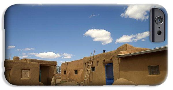 Pueblo Architecture iPhone Cases - Taos Pueblo, New Mexico iPhone Case by Mark Newman