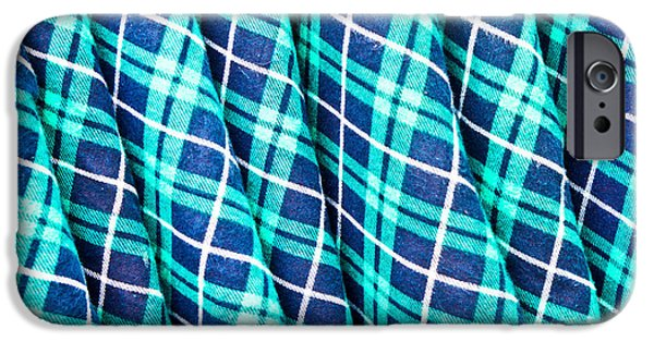 Sheets iPhone Cases - Tartan iPhone Case by Tom Gowanlock