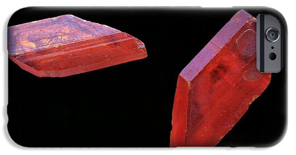 Red Wine iPhone Cases - Tartaric Acid Crystals iPhone Case by Dirk Wiersma