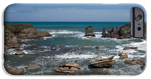 Turbulent Skies iPhone Cases - Tasman Sea at West Coast of South Island of NZ iPhone Case by Stephan Pietzko