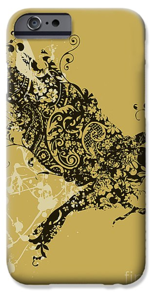 Flight iPhone Cases - Tattooed bird iPhone Case by Budi Kwan