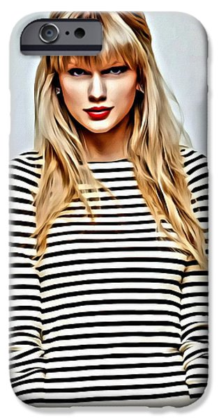 Taylor Swift iPhone Cases - Taylor Swift iPhone Case by Florian Rodarte