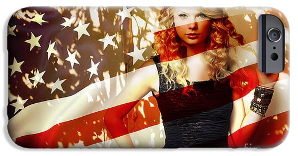 Taylor Swift iPhone Cases - Taylor Swift iPhone Case by Marvin Blaine