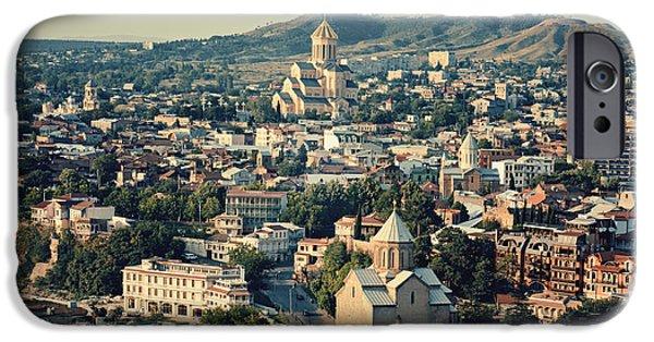 Tbilisi Photographs iPhone Cases - Tbilisi view iPhone Case by Roksana Bashyrova