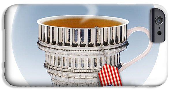 Tea Party iPhone Cases - Tea Party iPhone Case by Chris Van Es