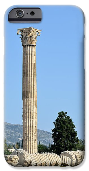 Temple of Olympian Zeus in Athens iPhone Case by George Atsametakis