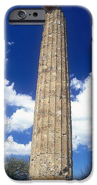 Zeus iPhone Cases - Temple of Zeus iPhone Case by Andonis Katanos