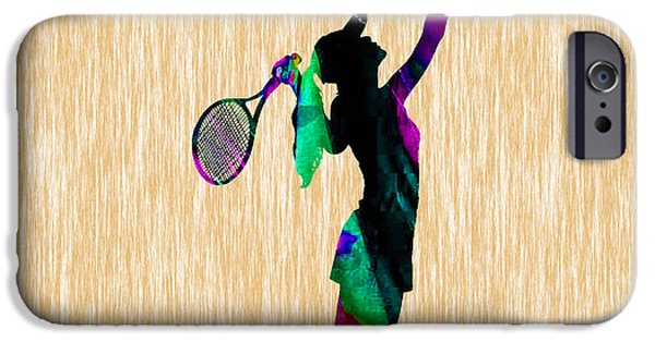 Womens Tennis iPhone Cases - Tennis iPhone Case by Marvin Blaine