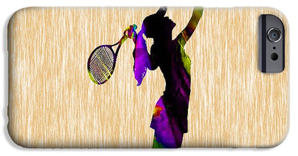 Womens Tennis iPhone Cases - Tennis Match iPhone Case by Marvin Blaine