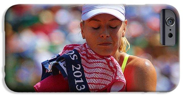 Sharapova iPhone Cases - Tennis Star Marija Sharapova iPhone Case by Srdjan Petrovic