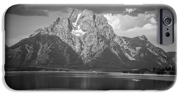 Autumn Scenes Pyrography iPhone Cases - Teton National Park iPhone Case by Oleksii Khmyz