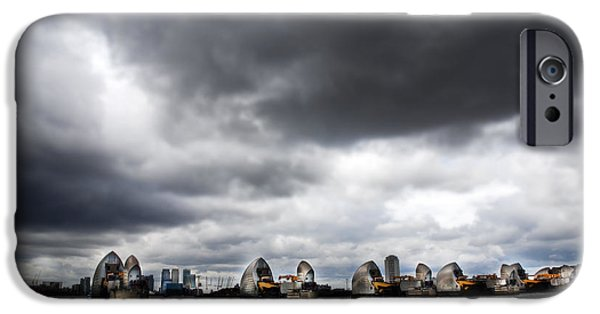 Floods Photographs iPhone Cases - Thames Barrier iPhone Case by Mark Rogan