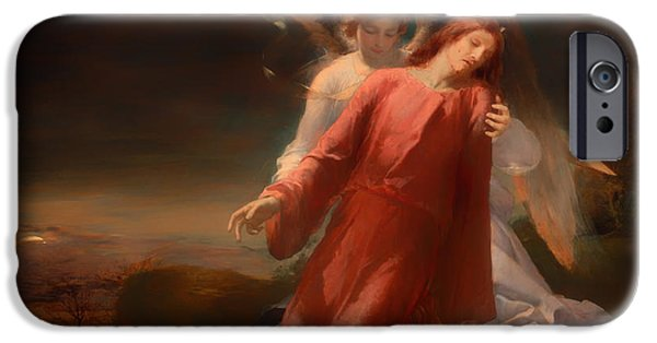 Night Angel iPhone Cases - The Agony in the Garden iPhone Case by George Richmond
