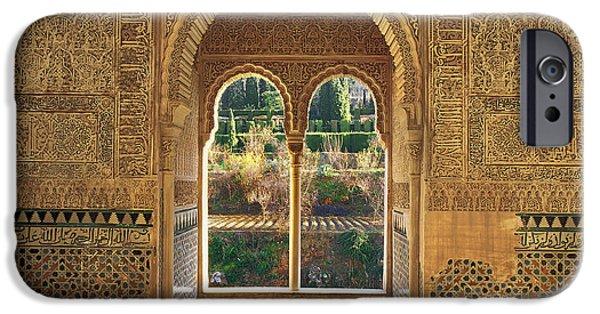Building iPhone Cases - The Alhambra Torre de la Cautiva iPhone Case by Guido Montanes Castillo