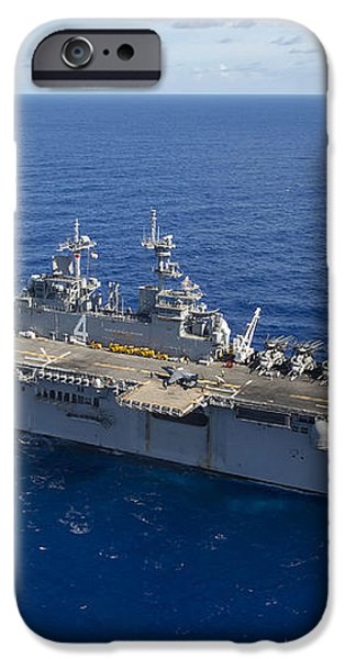The Amphibious Assault Ship Uss Boxer iPhone Case by Stocktrek Images