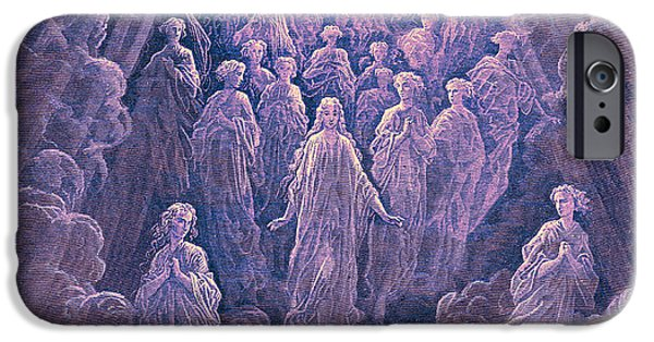 Christ In Majesty iPhone Cases - The Angels in the Planet Mercury iPhone Case by Gustave Dore