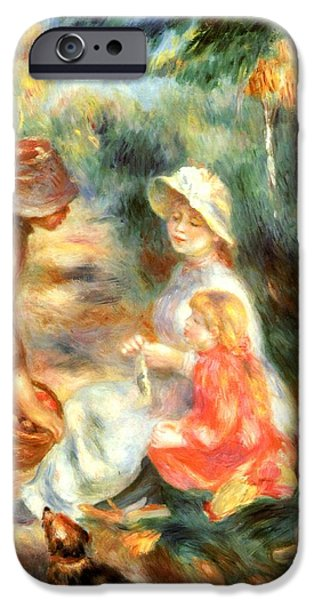 Puppy Digital iPhone Cases - The Apple Seller iPhone Case by Pierre-Auguste Renoir