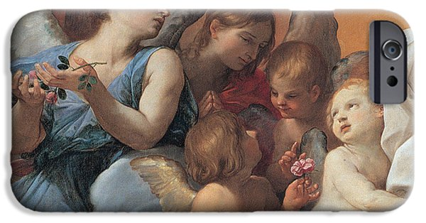 Cherub iPhone Cases - The Assumption of the Virgin Mary iPhone Case by Guido Reni