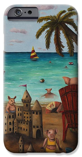 Sand Castles iPhone Cases - The Bacon Shortage iPhone Case by Leah Saulnier The Painting Maniac