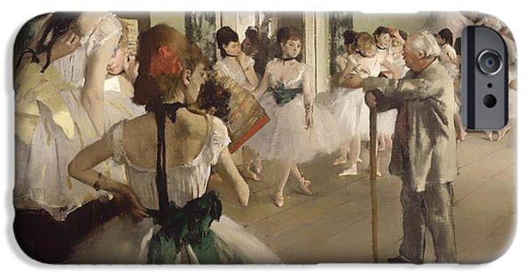 Ballet Dancers iPhone Cases - The Ballet Class iPhone Case by Edgar Degas