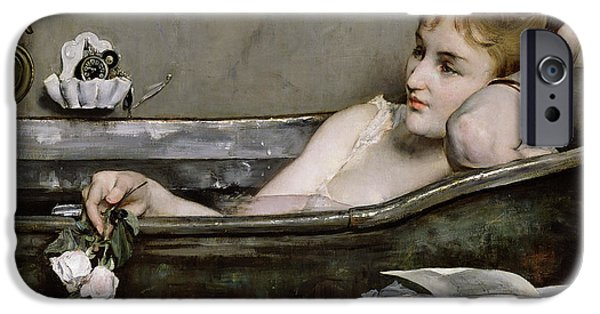 Bathing iPhone Cases - The Bath iPhone Case by Alfred George Stevens