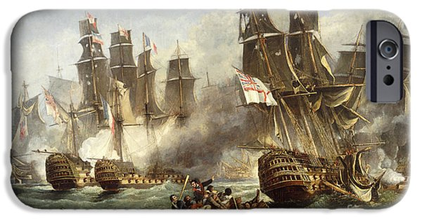 Smoke iPhone Cases - The Battle of Trafalgar iPhone Case by English School